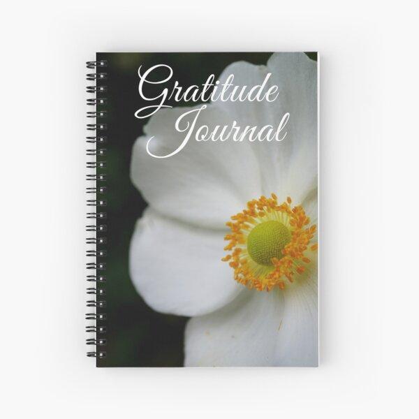 Gratitude Journal - White anemone flower Spiral Notebook