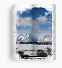 Wrinkle Tetons Canvas Print