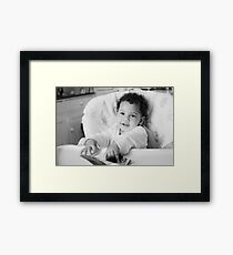 Smile and the whole world smiles with you. Framed Print