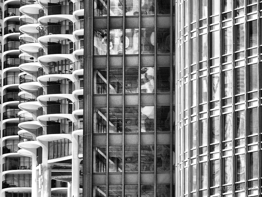 Marina Towers, IBM Building, Trump Tower by Crystal Clyburn