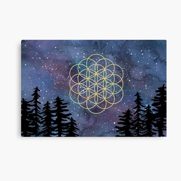 galaxy flower of life Canvas Print