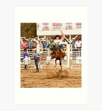 Rodeo - Bucking Bronco  Art Print