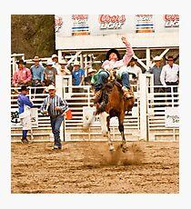 Rodeo - Bucking Bronco  Photographic Print