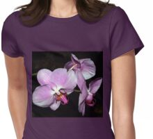 Purple orchids Womens Fitted T-Shirt