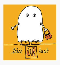Trick or Treat doodle Photographic Print