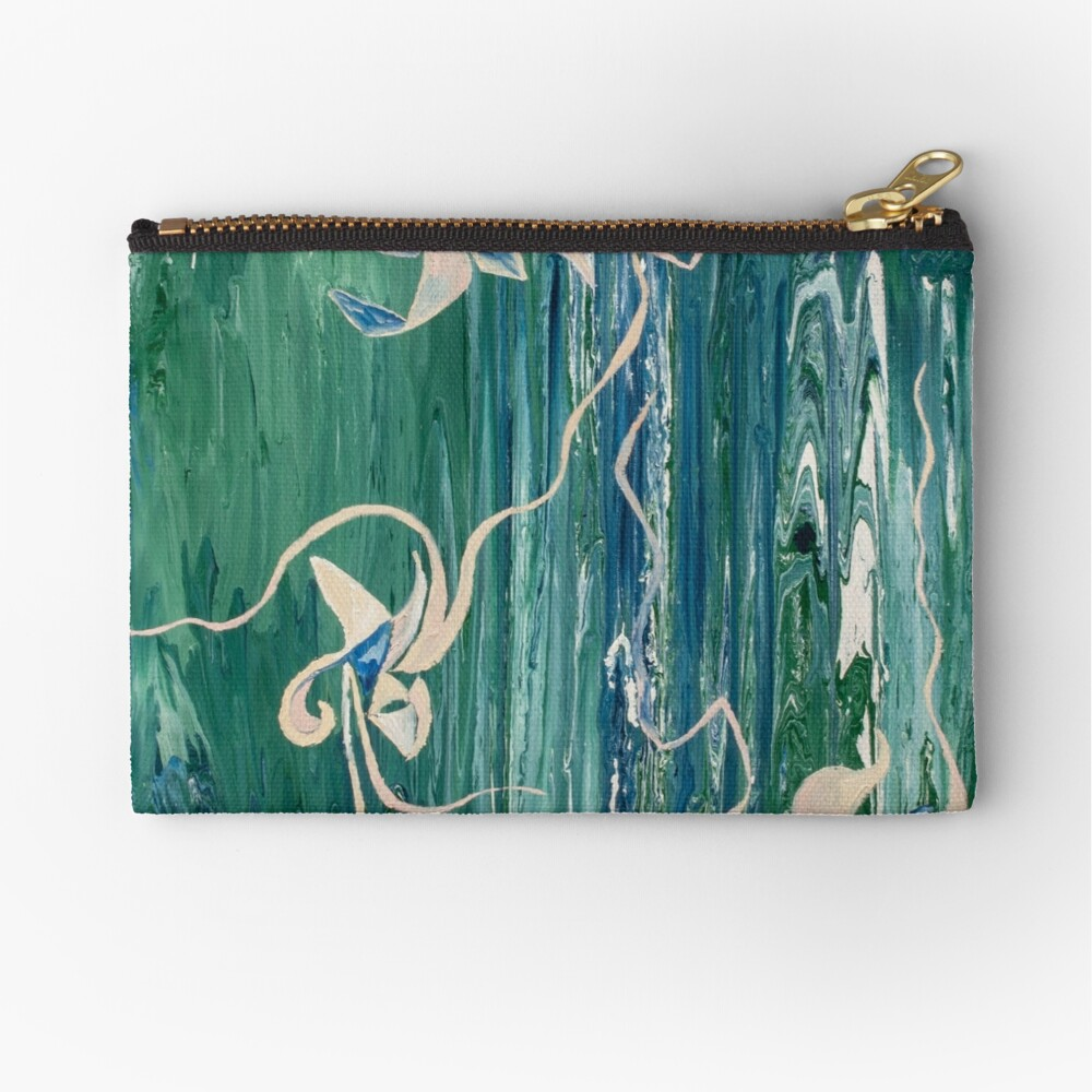 abstract water surface Zipper Pouch