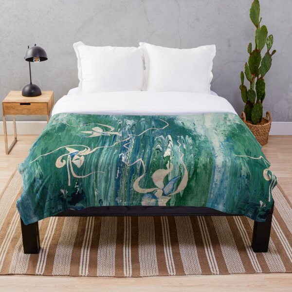 abstract water surface Throw Blanket