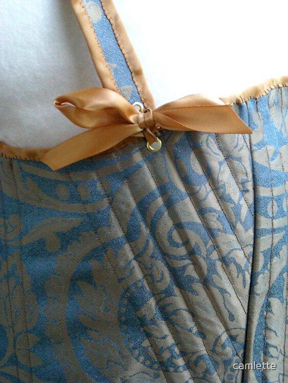 Lady Jane Corset Detail by Cameron Hampton