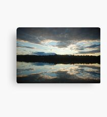 Sunset in South Thomaston Canvas Print