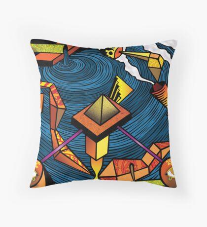 fabricas, deuses, jogos e música... Throw Pillow
