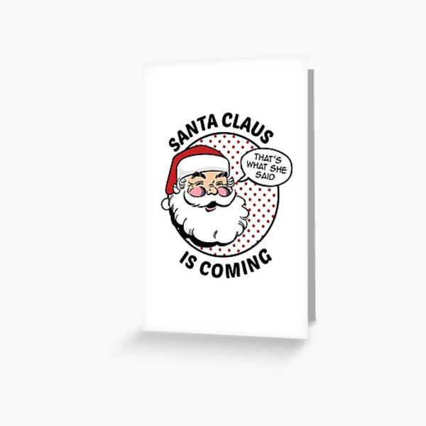 Papá Noel viene Tarjetas de felicitación