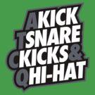 Kick, Snare, Kicks & Hi-Hat by asetdesigns