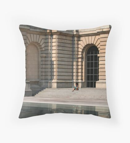 Lille, France - Reflective Lunch Throw Pillow