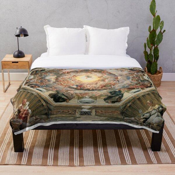 Sistine Chapel Ceiling Michelangelo  Throw Blanket