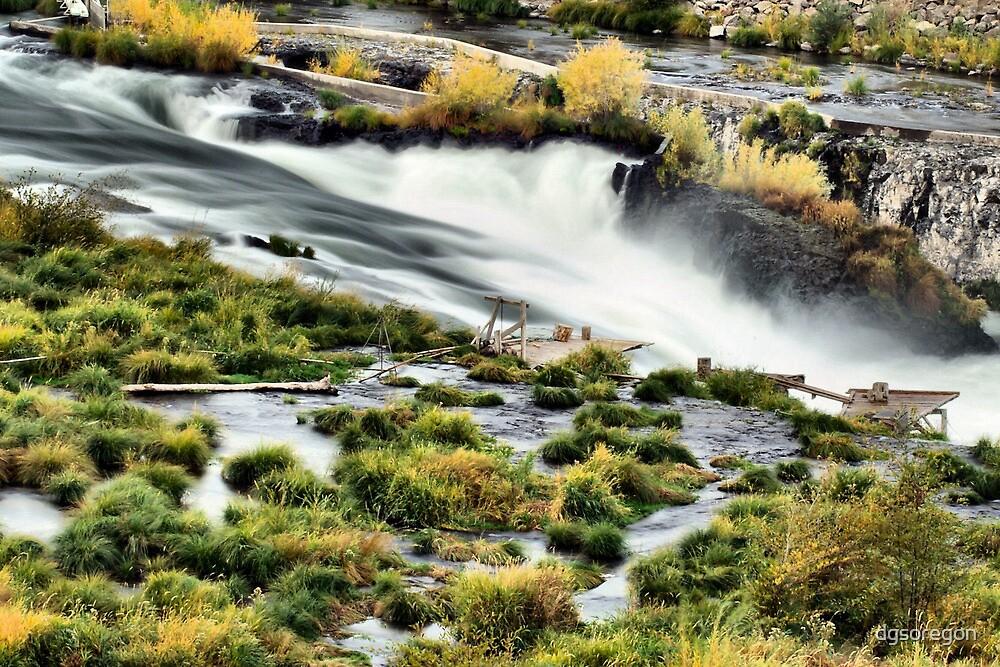 Sherar Falls Deschutes River Oregon by Donald Siebel
