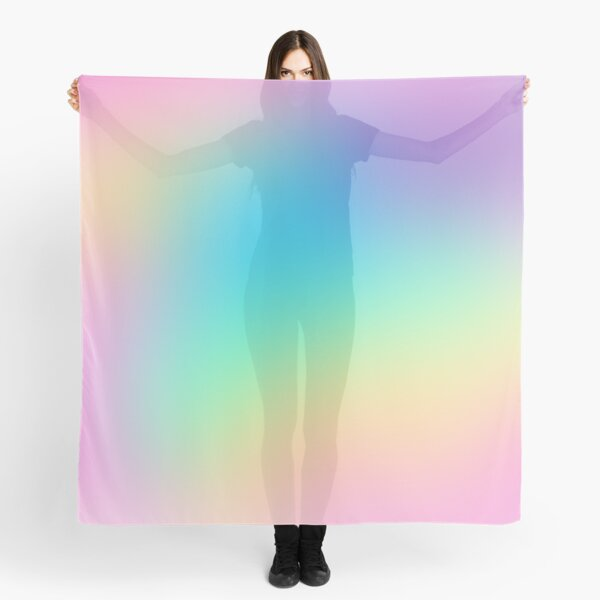 Soft Colorful Gradient Scarf