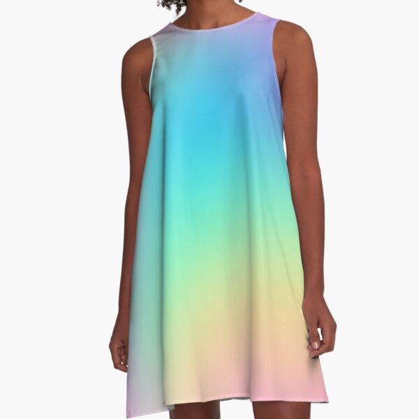 Soft Colorful Gradient A-Line Dress