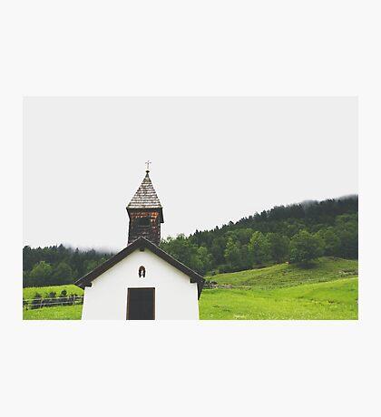 Alpine Chapel Photographic Print