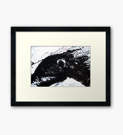 Black Horse 4 Framed Print