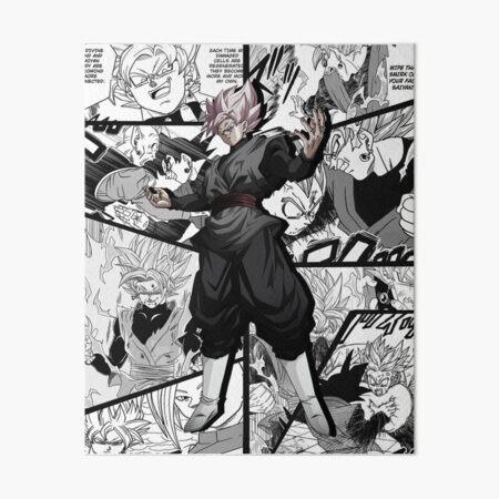 Goku Black God Saiyan manga version Dragon Ball Super Art Board Print
