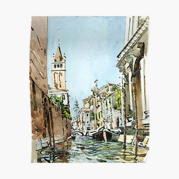 Edward Darley Boit Rio di San Barnaba, Venice Poster