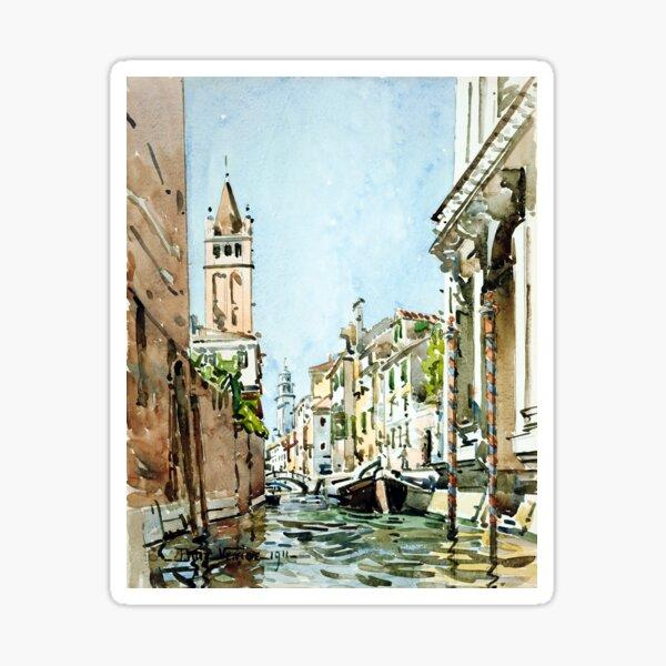 Edward Darley Boit Rio di San Barnaba, Venice Sticker