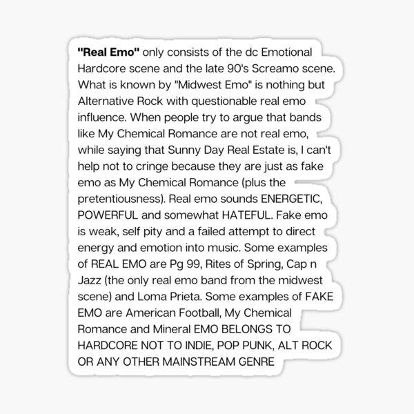 Real Emo Sticker