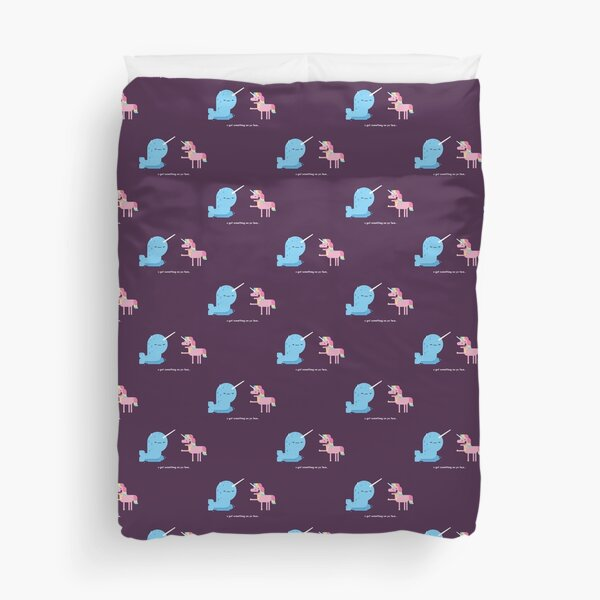 Norwall and the Jackass Unicorn Duvet Cover