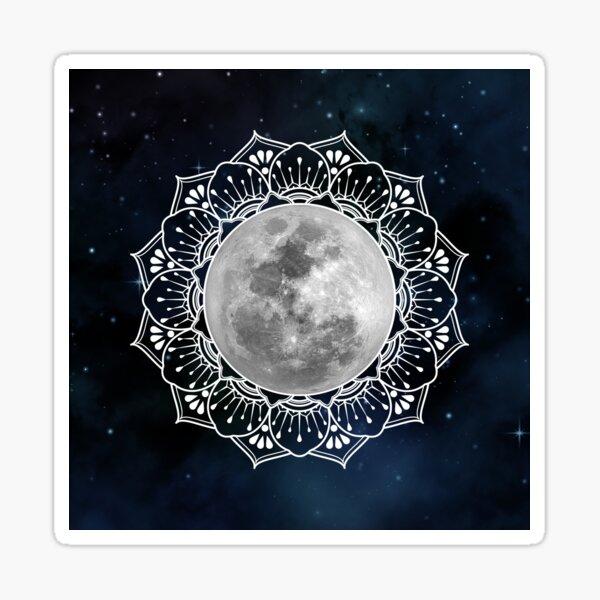 Full Moon Mandala Sticker