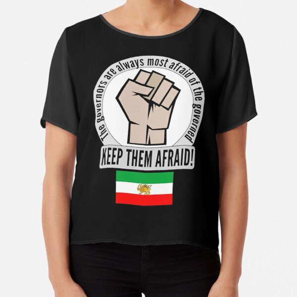 Support the fight for freedom in Iran! Chiffon Top