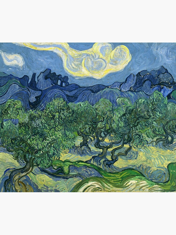 The Olive Trees by Vincent van Gogh by VintageArchive