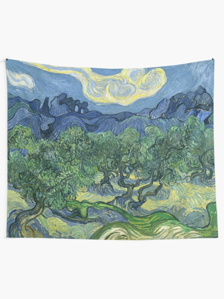 Alternate view of The Olive Trees by Vincent van Gogh Tapestry