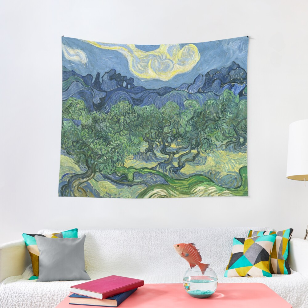 The Olive Trees by Vincent van Gogh Tapestry