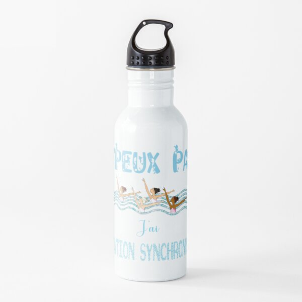 i can not i have synchronized swimming Water Bottle