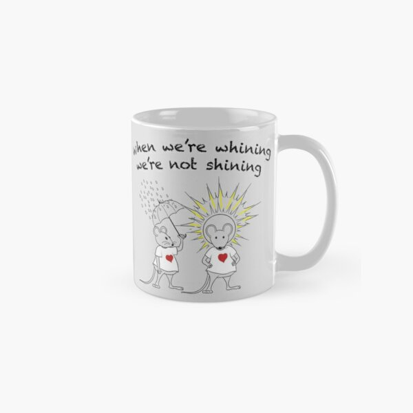 MantraMouse® Shining Cartoon in Color on Gray BackGround Classic Mug