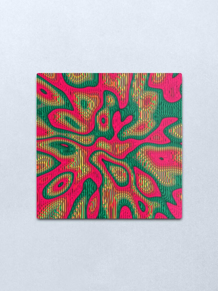 Alternate view of Abstract random colors #5 | Meditative thing! Metal Print
