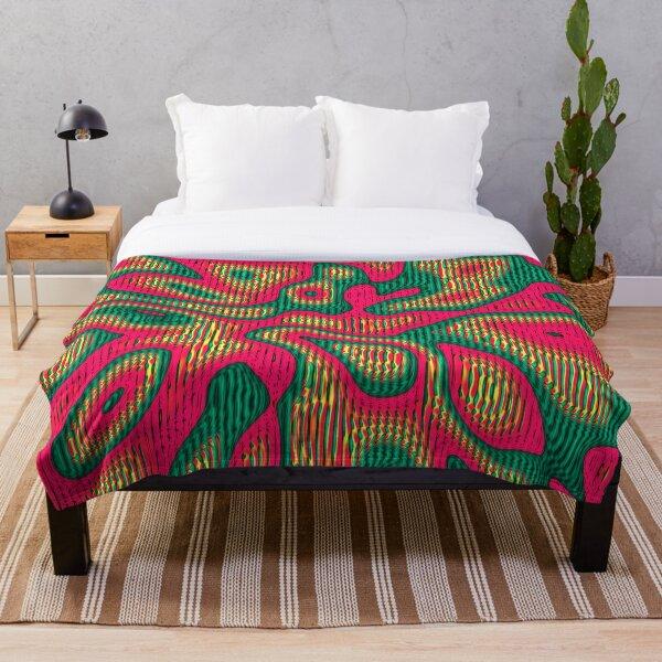 Abstract random colors #5 | Meditative thing! Throw Blanket