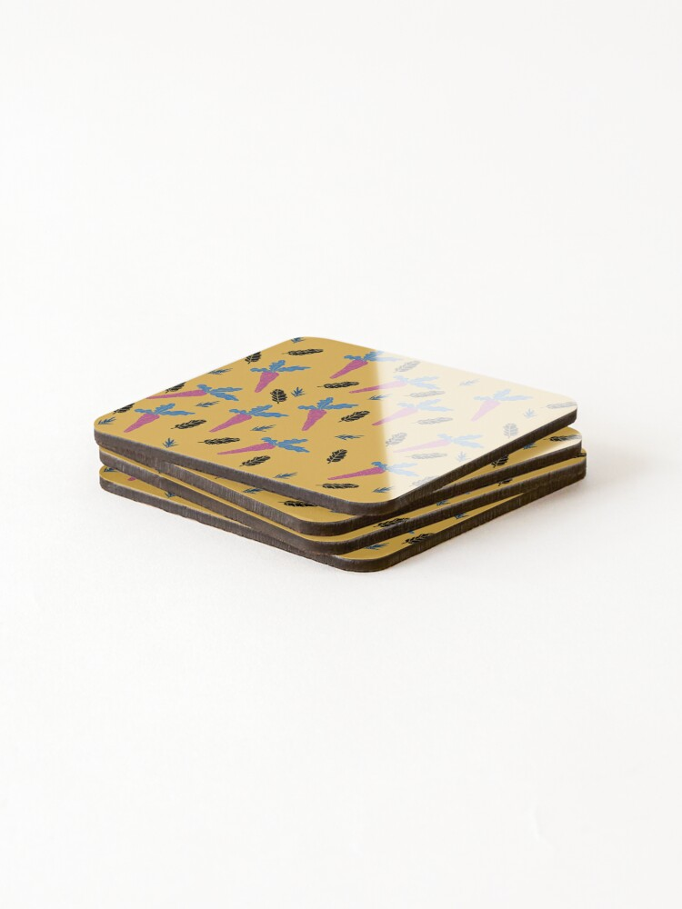 Alternate view of Carrots pattern  Coasters (Set of 4)