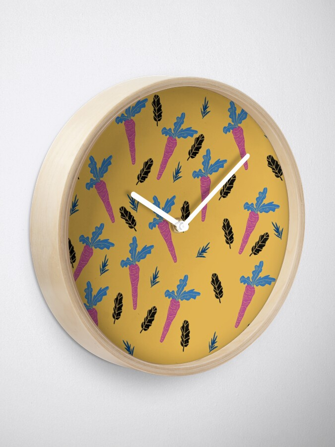 Alternate view of Carrots pattern  Clock