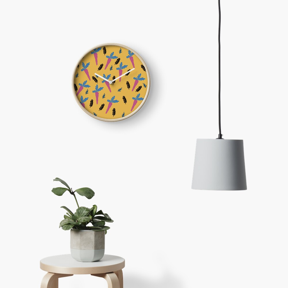 Carrots pattern  Clock