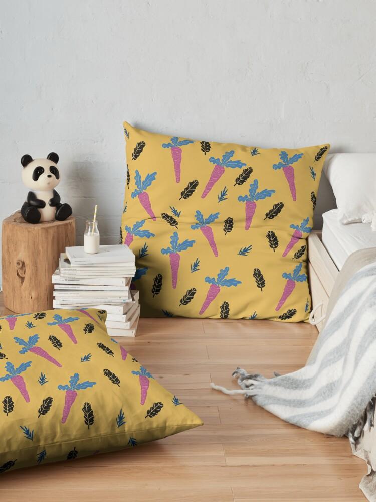 Alternate view of Carrots pattern  Floor Pillow