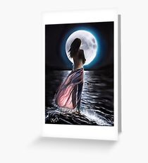 'Moon's Song of Sorrow, Song of Love'  (a collab with Chris Perry ~ art & poetry) Greeting Card