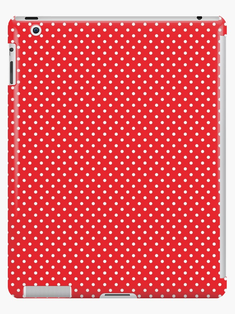 Polkadots Red and White by MEDUSA GraphicART