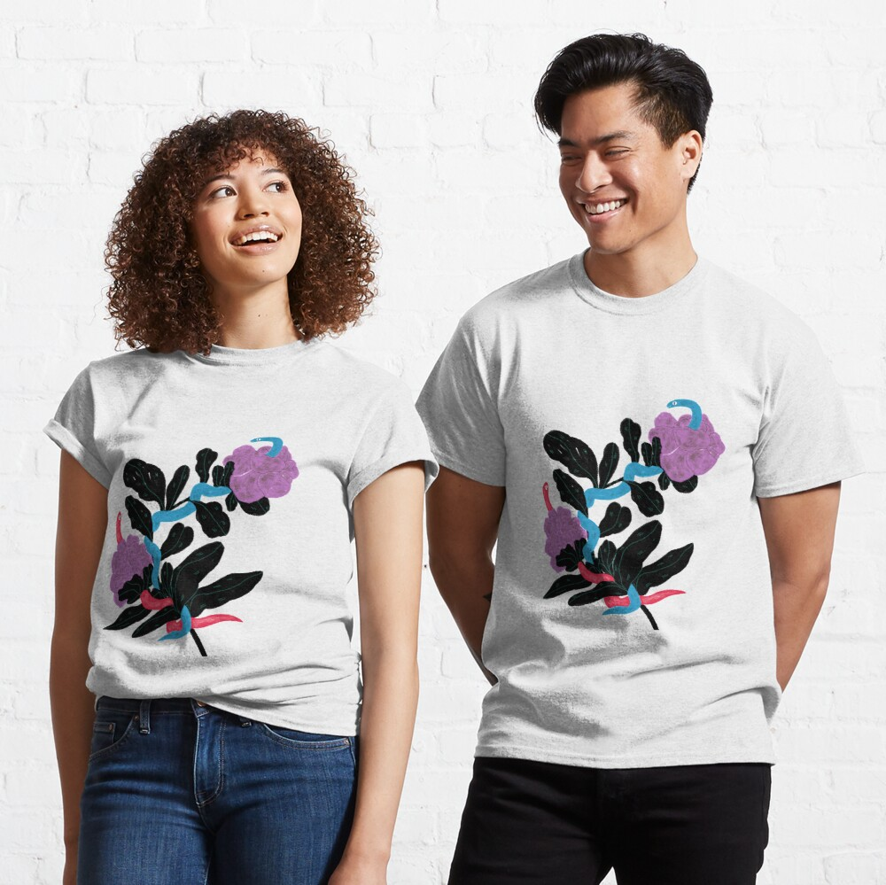 Snakes and flowers Classic T-Shirt
