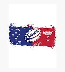 Samoa Rugby World Cup Photographic Print