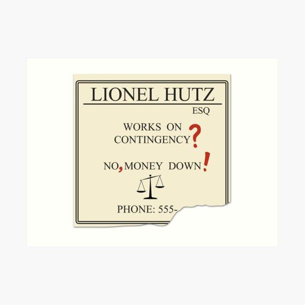 Lionel Hutz - No, money down! Art Print