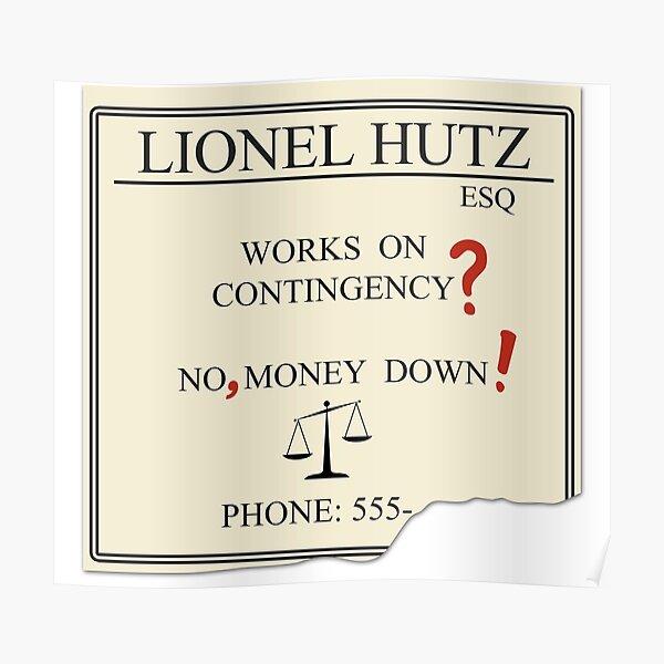 Lionel Hutz - No, money down! Poster