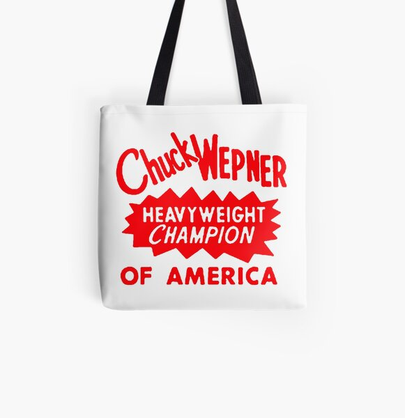 Chuck Wepner Cool Typography, Red All Over Print Tote Bag