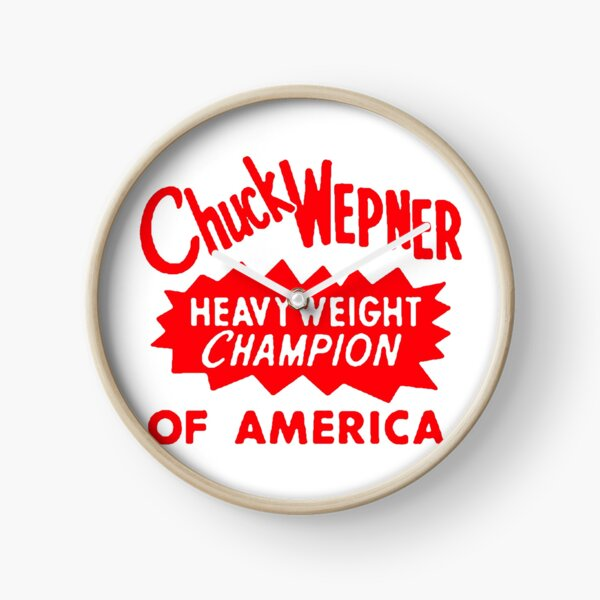 Chuck Wepner Cool Typography, Red Clock