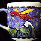 Dragon mug by Wendy Crouch
